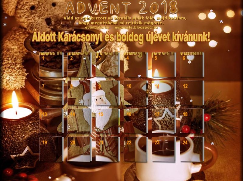 Interaktív adventi kalendárium