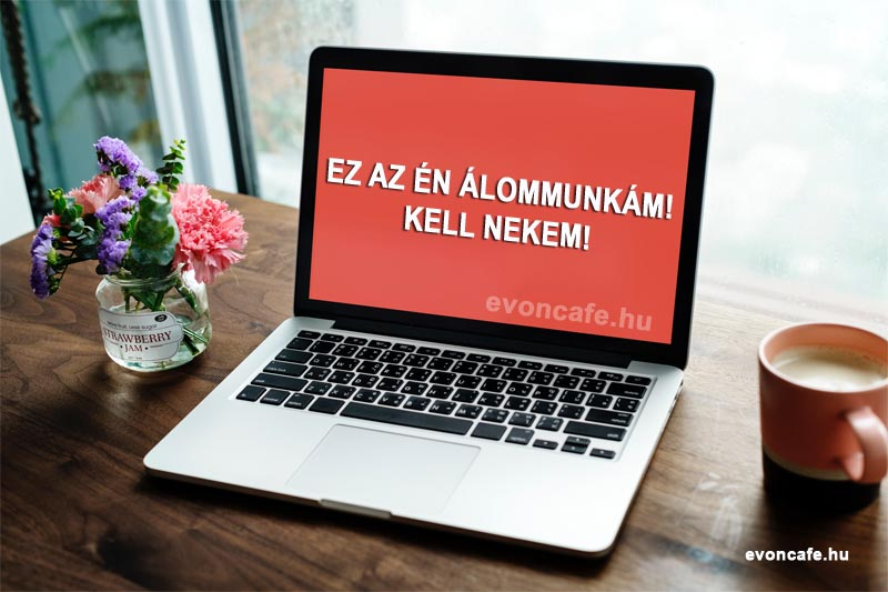 álommunka laptop lifestyle