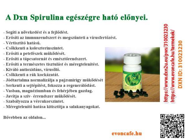 A Dxn spirulina nélkülözhetetlen hatása szervezetünkre